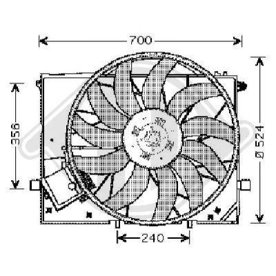 Ventilateur, refroidissement du moteur - Diederichs Germany - 8164603