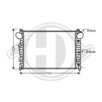 Radiateur, refroidissement du moteur - HDK-Germany - 77HDK8164605