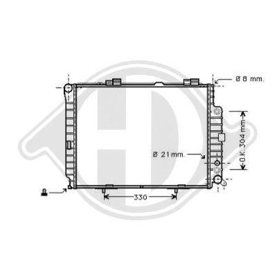 Radiateur, refroidissement du moteur - Diederichs Germany - 8164606