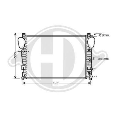 Radiateur, refroidissement du moteur - Diederichs Germany - 8164608