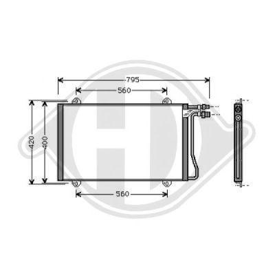 Condenseur, climatisation - Diederichs Germany - 8166100