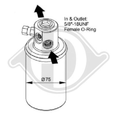 Filtre déshydratant, climatisation - HDK-Germany - 77HDK8166101