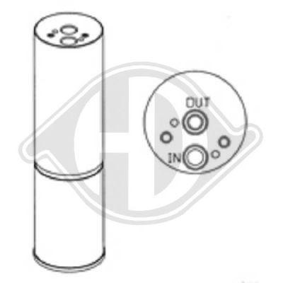Filtre déshydratant, climatisation - Diederichs Germany - 8166102