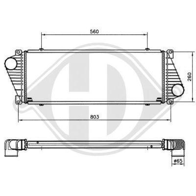 Intercooler, échangeur - HDK-Germany - 77HDK8166104