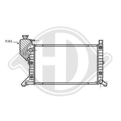Radiateur, refroidissement du moteur - Diederichs Germany - 8166200