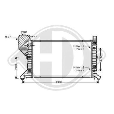 Radiateur, refroidissement du moteur - Diederichs Germany - 8166201