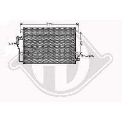 Condenseur, climatisation - Diederichs Germany - 8166300