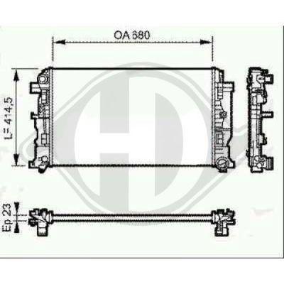 Radiateur, refroidissement du moteur - HDK-Germany - 77HDK8166305
