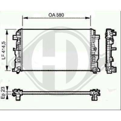 Radiateur, refroidissement du moteur - Diederichs Germany - 8166306