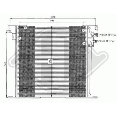 Condenseur, climatisation - Diederichs Germany - 8166500