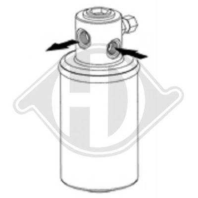 Filtre déshydratant, climatisation - Diederichs Germany - 8166501
