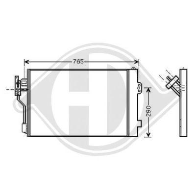Condenseur, climatisation - Diederichs Germany - 8166600