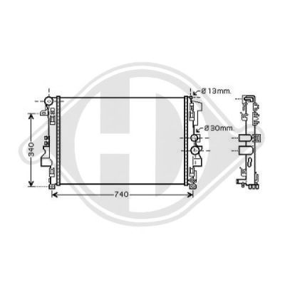 Radiateur, refroidissement du moteur - HDK-Germany - 77HDK8166604