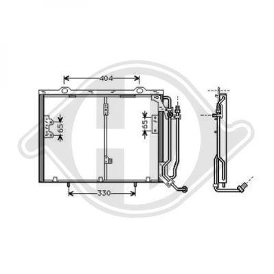 Condenseur, climatisation - Diederichs Germany - 8167000