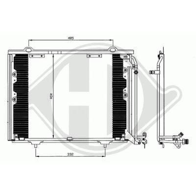 Condenseur, climatisation - Diederichs Germany - 8167001