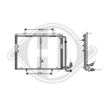 Condenseur, climatisation - Diederichs Germany - 8167002