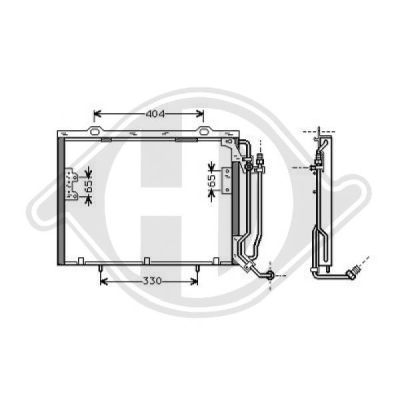 Condenseur, climatisation - Diederichs Germany - 8167003