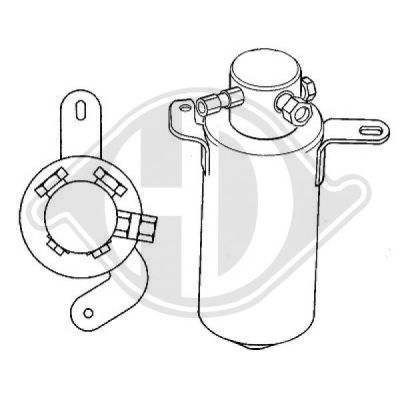 Filtre déshydratant, climatisation - Diederichs Germany - 8167005