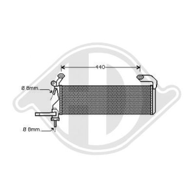 Refroidisseur de carburant - Diederichs Germany - 8167007