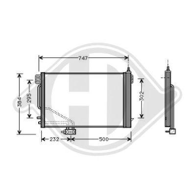 Condenseur, climatisation - Diederichs Germany - 8167100