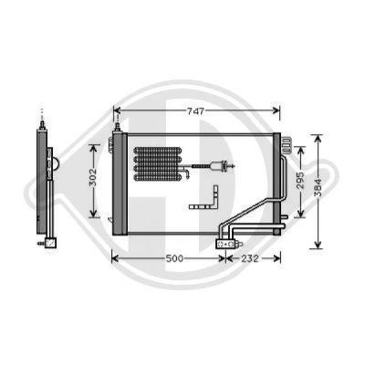 Condenseur, climatisation - Diederichs Germany - 8167101