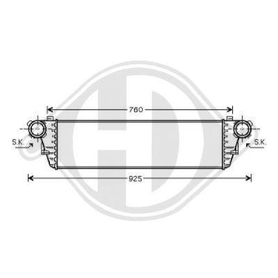 Intercooler, échangeur - Diederichs Germany - 8167102