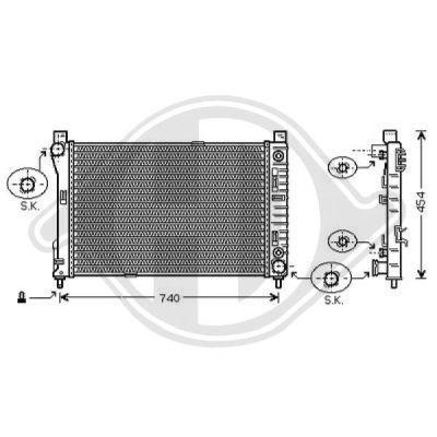 Radiateur, refroidissement du moteur - Diederichs Germany - 8167104