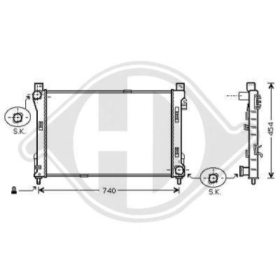 Radiateur, refroidissement du moteur - Diederichs Germany - 8167105