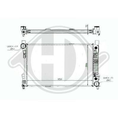 Radiateur, refroidissement du moteur - Diederichs Germany - 8167107