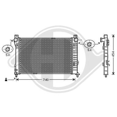 Radiateur, refroidissement du moteur - HDK-Germany - 77HDK8167110