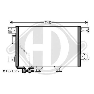 Condenseur, climatisation - Diederichs Germany - 8167111