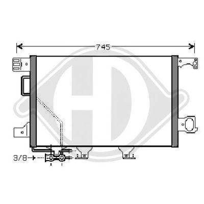 Condenseur, climatisation - Diederichs Germany - 8167112