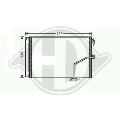 Condenseur, climatisation - Diederichs Germany - 8167200