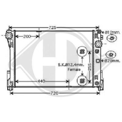 Radiateur, refroidissement du moteur - HDK-Germany - 77HDK8167203
