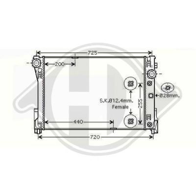 Radiateur, refroidissement du moteur - HDK-Germany - 77HDK8167205