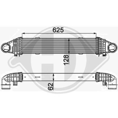 Intercooler, échangeur - Diederichs Germany - 8167206