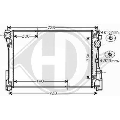 Radiateur, refroidissement du moteur - Diederichs Germany - 8167207