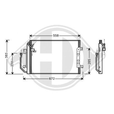 Condenseur, climatisation - Diederichs Germany - 8168000