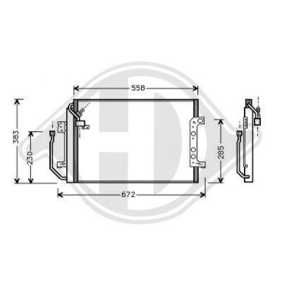Condenseur, climatisation - HDK-Germany - 77HDK8168000