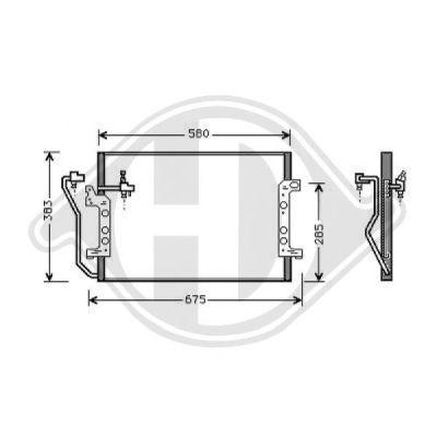 Condenseur, climatisation - Diederichs Germany - 8168001
