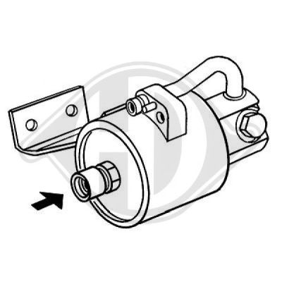 Filtre déshydratant, climatisation - Diederichs Germany - 8168002