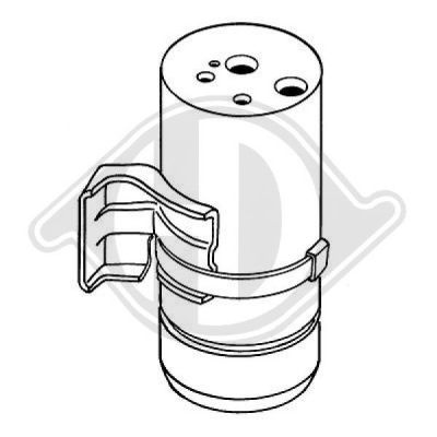 Filtre déshydratant, climatisation - Diederichs Germany - 8168003