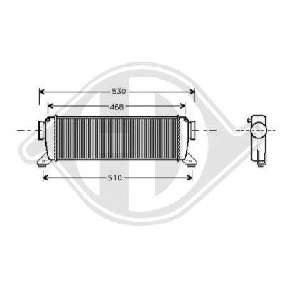 Intercooler, échangeur - Diederichs Germany - 8168005