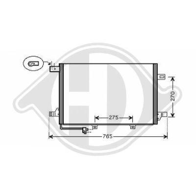 Condenseur, climatisation - Diederichs Germany - 8168100