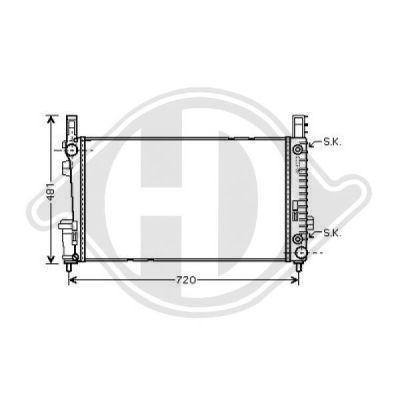 Radiateur, refroidissement du moteur - Diederichs Germany - 8168105