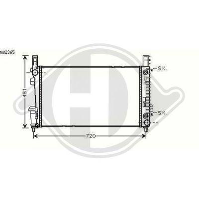 Radiateur, refroidissement du moteur - Diederichs Germany - 8168106
