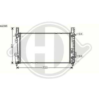 Radiateur, refroidissement du moteur - HDK-Germany - 77HDK8168106
