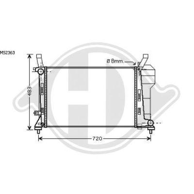 Radiateur, refroidissement du moteur - Diederichs Germany - 8168107