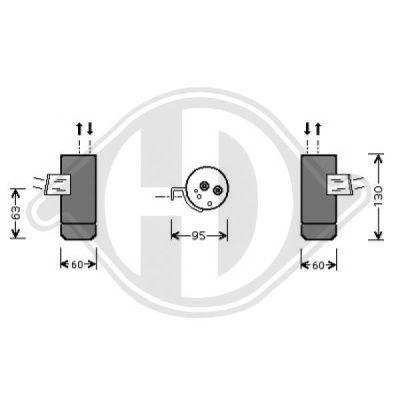 Filtre déshydratant, climatisation - Diederichs Germany - 8168582