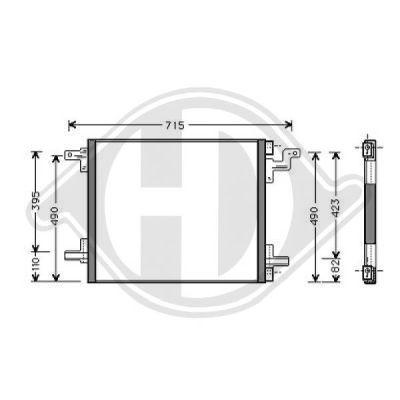 Condenseur, climatisation - Diederichs Germany - 8169000